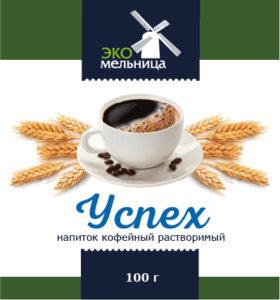 Напиток кофейный растворимый Успех 100 граммов