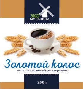 Напиток кофейный растворимый Золотой Колос 200 граммов